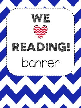 Bunting Banner  - WE LOVE READING