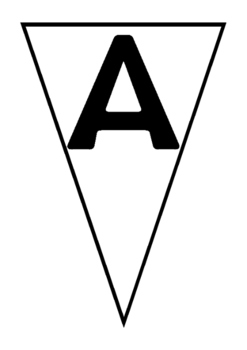 Bunting- alphabet upper case