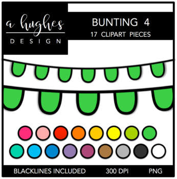 Buntings Set 4 {Graphics for Commercial Use}