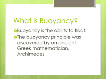 Buoyancy and Line Plots