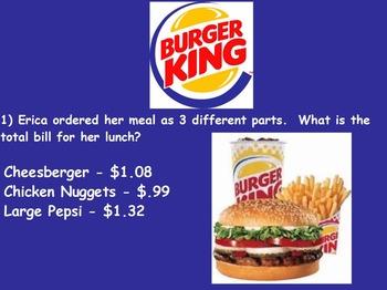 Real World Math (ACTIVE BOARD) - Burger King CBI; Life Ski