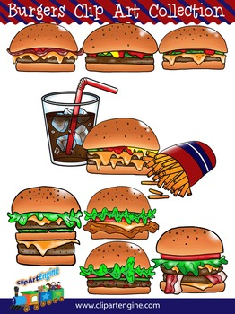 Burgers Clip Art Collection