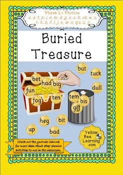Buried Treasure Game - Phase 2 Phonics