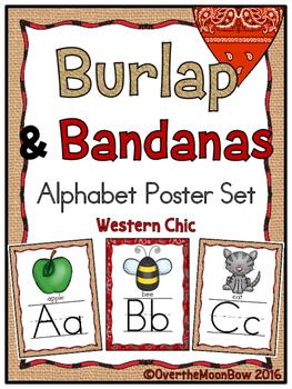 Burlap & Bandanas Alphabet Poster Set