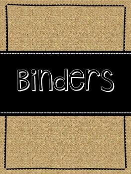 Burlap Binder Covers