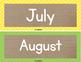 Burlap & Brights: Calendar Cards