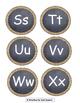Burlap & Chalkboard Alphabet & Numbers to 26