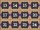 Burlap, Chalkboard, and Purple Calendar Set