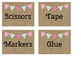 Burlap Classroom Supply Labels