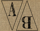 Burlap Alphabet Banner/Pennants - A TO Z! & 12 Chalkboard Labels!