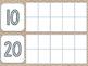 Burlap Days in School Ten Frames Chart
