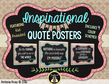 Burlap & Glitter INSPIRATIONAL Quotes Posters