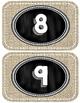 Burlap Number Line