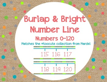 Burlap and Bright Number Line matches toocute