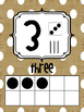 Burlap and White Polka Dot Number Posters