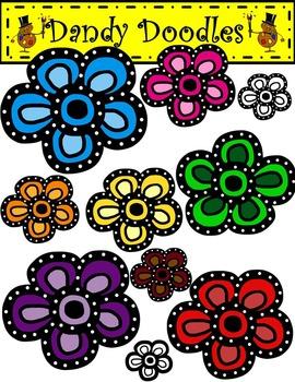 Burst of Blooms FREEBIE Clip Art by Dandy Doodles