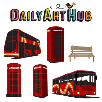 Bus Stop Clip Art - Great for Art Class Projects!