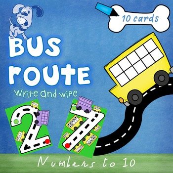 Bus Routes - Numbers to 10 - number formation
