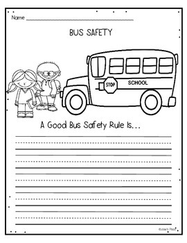 Printables Bus Safety Worksheets bus safety freebie by josies place teachers pay freebie
