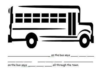 Bus Song - Recognizing Names and Initial Sounds