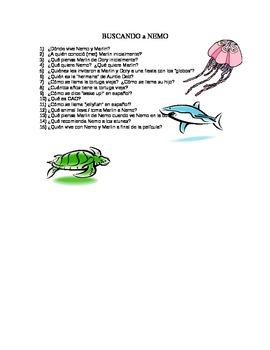 Buscando a Nemo / Finding Nemo - 15 Movie questions