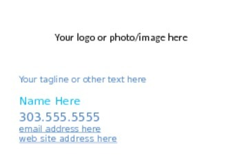 Business Card Template in Word