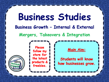 Business Growth - Takeovers, Mergers & Integration - Growi