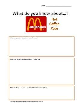 Law: MCD's Hot Coffee Case