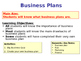 Business Plans - Business Studies Planning - PPT & Create