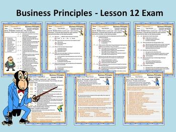 Business Principles - Lesson 12 Exam