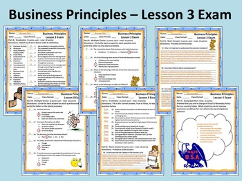 Business Principles - Lesson 3 Exam