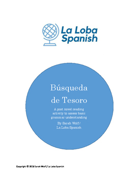 Busqueda de Tesoro (Grammar Treasure Hunt for Spanish novels)