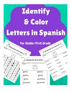 Busqueda y Colorear las letras en español- Alfabeto (Lette