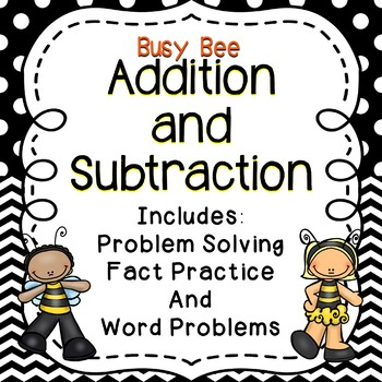 Early Finishers - Busy Bee Addition and Subtraction