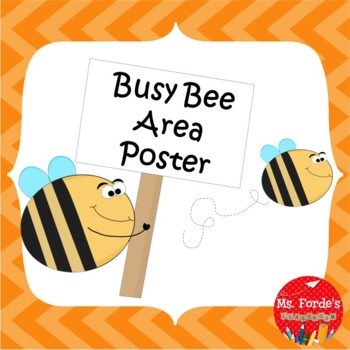 Busy Bee Area Poster