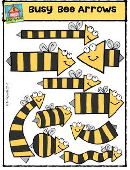 Busy Bee Arrows {P4 Clips Trioriginals Digital Clip Art}