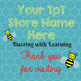TpT Store Busy Bee Logo, Banner and Label Design Bundle
