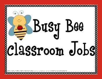 Busy Bees Theme: Classroom Job Titles and Name Tags