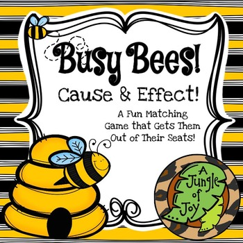 Busy Bees Cause and Effect Game