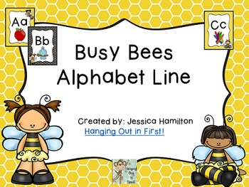 Busy Bees Classroom Theme - Alphabet Line