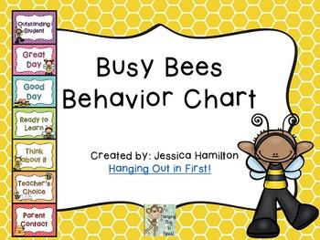 Busy Bees Classroom Theme - Behavior Clip Chart