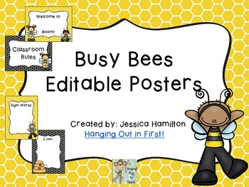 Busy Bees Classroom Theme - Posters