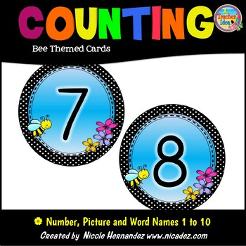 Counting - Bee Themed Number Cards