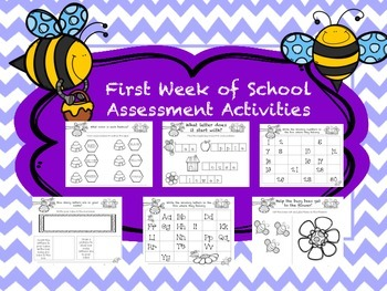 English Busy Bees First Week Assesments