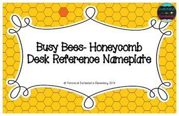 Busy Bees- Honeycomb Desk Reference Nameplates
