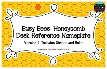Busy Bees- Honeycomb Desk Reference Nameplates Version 2