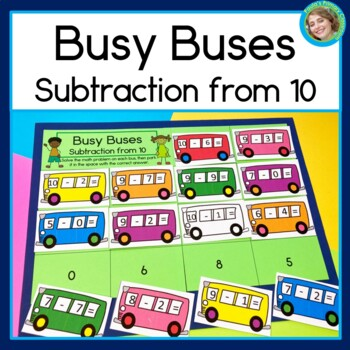 Busy Buses Subtraction from 10