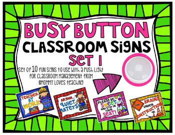 Busy Button Sign Bundle Set 1