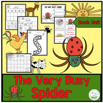 "Busy Spider Book Unit ""No Prep"""