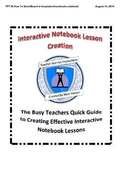 Busy Teachers Guide to Creating Daily Interactive Notebook